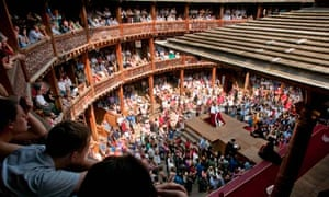 Theatre of conflict … a performance Henry VIII at Shakespeare's Globe.