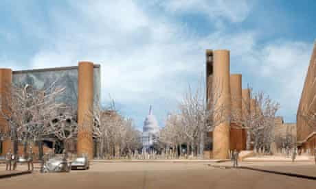 Rendering of proposed memorial to Dwight D Eisenhower in Washington DC