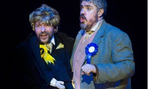 Lovelorn comic … Phill Jupitus, right, as Dave the ventriloquist and Harry Hamer in Big Society!