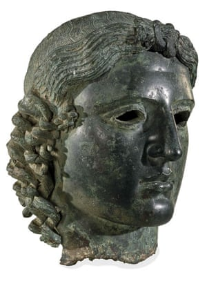 The bronze head of Apollo known as the Chatsworth Head, discovered near Tamassos in Cyprus