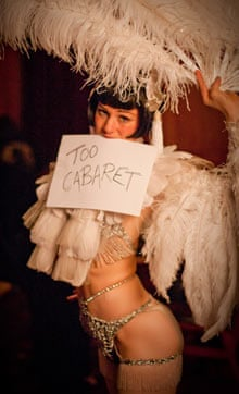 Ruffled feathers … cabaret star Vicky Butterfly.