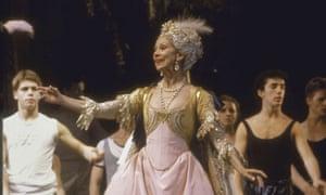Margot Fonteyn in a rehearsal of The Sleeping Beauty