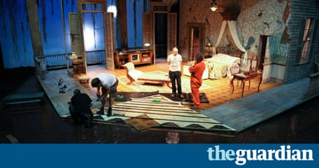 Behind the scenes cat on a hot tin roof at west yorkshire playhouse stage the guardian for Hot tin roof custom home design