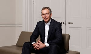 Tony Blair photographed at his office in 9 Grosvensor Square