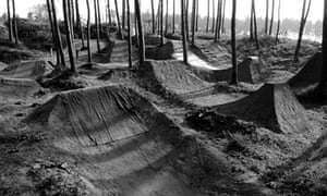 A new landscape made by BMX bikers in Orford, Suffolk