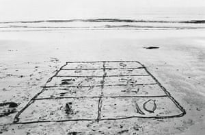 The aftermath of a hopscotch game in Pembrokeshire