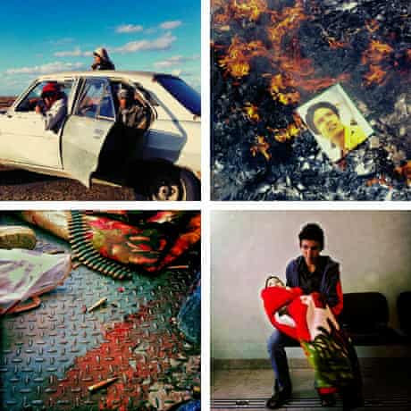 A selection of images from Michael Christopher Brown's photo essay of the Libyan revolution
