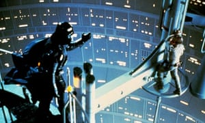 David Prowse and Mark Hamill in Star Wars: The Empire Strikes Back (1980)