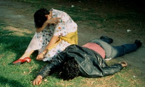 Enrique Metinides's A woman discovers the body of her murdered husband, Mexico state, 1963