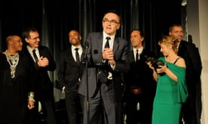 Danny Boyle and the London 2012 opening ceremony team accept the Beyond Theatre award