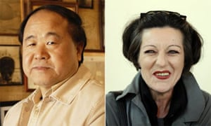 Chinese author Mo Yan and Herta Muller