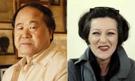 Chinese author Mo Yan and Herta Muller