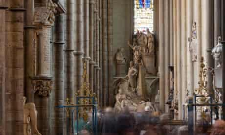 The north aisle of Westminster Abbey's nave