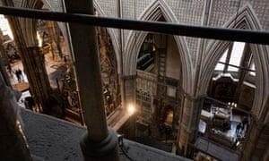 The abbey interior