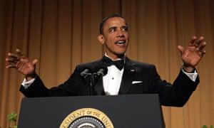 No joke … Barack Obama, the US president, who has largely escaped the mockery of talkshow hosts.