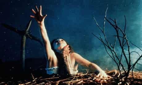 Still from the film The Evil Dead (1981)