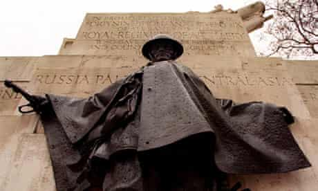 Soldiering on … Charles Sargeant Jagger's Royal Artillery Memorial at Hyde Park Corner in London.