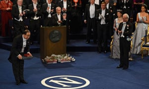 Mo Yan accepts the Nobel prize in literature