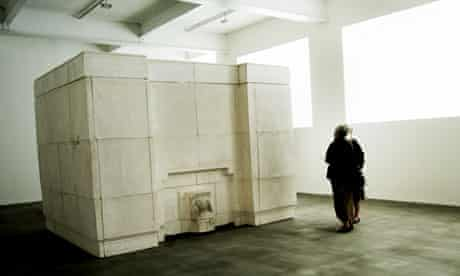 Rachel Whiteread's sculpture Ghost at the Gagosian gallery