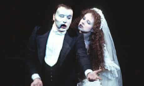 Michael Crawford and Sarah Brightmanin the original 1986 UK run of The Phantom of the Opera.