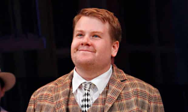 James Corden on the opening night of One Man, Two Guvnors at Broadway's Music Box theatre in April.
