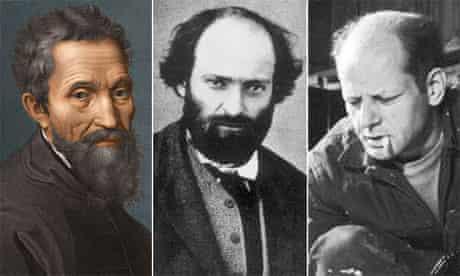 Michelangelo, Paul Cezanne and Jackson Pollock
