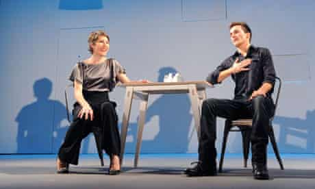 Tamsin Greig and Rupert Friend in The Little Dog Laughed in the West End