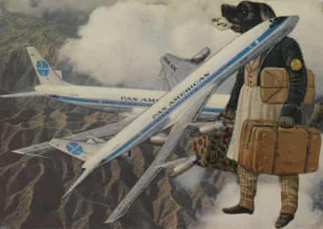 Jacques Prévert's Collage Chien Aviateur (1955).