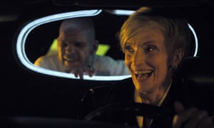 Denis Lavant and Edith Scob in Holy Motors (2012) directed by Leos Carax