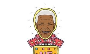 Peter Hain's Nelson Mandela placard (illustration)