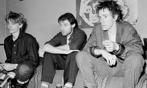 From left: Keith Levene, Jah Wobble and John Lydon at their London flat in 1981