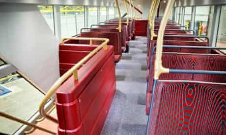 New Routemaster bus - top deck