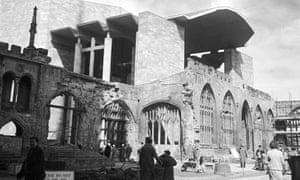 Coventry cathedral in the1960s