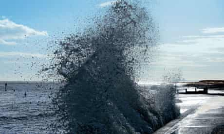 John Pawson's photograph of a wave breaking in Southwold, Suffolk