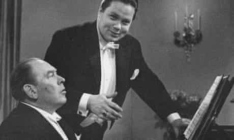 Gerald Moore with baritone Dietrich Fischer-Dieskau