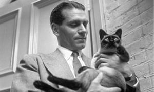 Laurence Olivier with his family cat