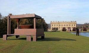 Iron aged … Anthony Caro's Forum (1992-4), part of Caro at Chatsworth.