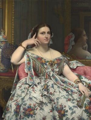 Jean-Auguste-Dominique Ingres's Madame Moitessier (1856).