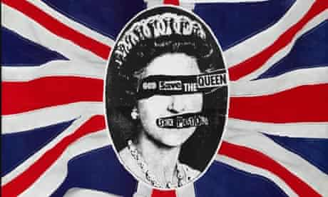 Jamie Reid's God Save the Queen poster for the Sex Pistols (1977)