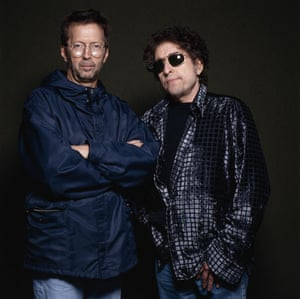 Terry O' Neill's worst shot of Eric Clapton and Bob Dylan