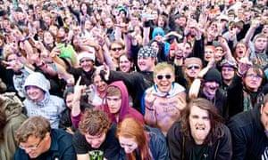 Summer break … fans at Sonisphere festival 2011.