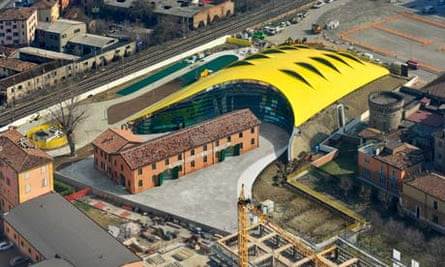The Enzo Ferrari Museum in Modena, Italy, built according to a design by the late Jan Kaplický.