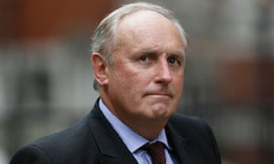 Paul Dacre arrives to give evidence at the Leveson Inquiry at the High Court in London