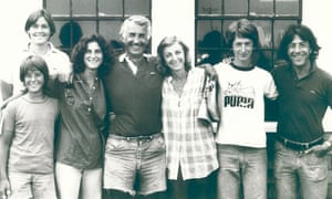 Dustin Hoffman with John Burnham Schwartz's family
