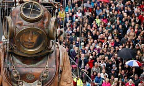 Sea Odyssey diver puppet in Liverpool