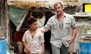 Kevin Hernandez and Mel Gibson in How I Spent My Summer Vacation