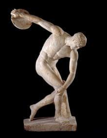 The Discobolus ('discus thrower') of Myron.