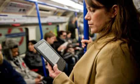 Woman reading an ebook