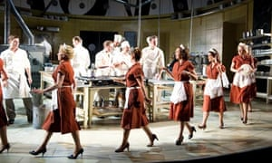 Bijan Sheibani's production of Arnold Wesker's The Kitchen, in the Olivier theatre at the National.