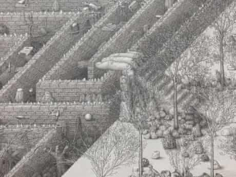 Strange town … detail from Paul Noble's Welcome to Nobson (2008-2010).